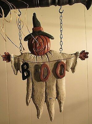 """""""""""BOO"""" JACK GHOST"""" Replacement Sign - Resin Sign for Country Arrow Holders"""