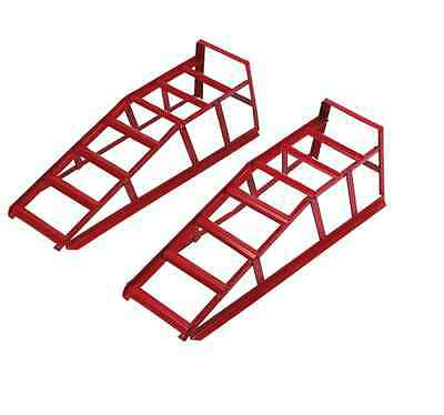 Car Ramps Raises wheels Ground Wide tracks Adjustable Safe Working Under Vehicle