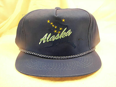NOS Vintage Alaska State Big Dipper Beautiful Embroidered Hat 1995 One Size