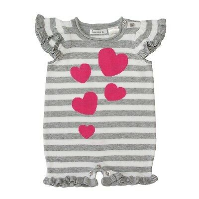 *NEW* Beanstork Baby Girls Knit Heart Romper