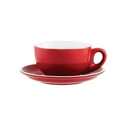 36x Cappuccino Cup & Saucer, Red 220mL, Rockingham, Cafe / Restaurant