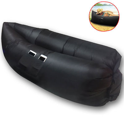 Chill Chair Portable Large Inflatable Lounge/Couch/Seat Outdoor/Camp/Beach Black