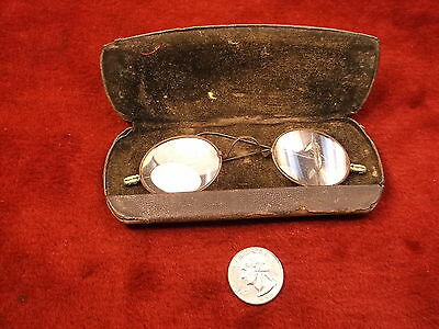 #10 of 27, EXTREMELY OLD ANTIQUE PAIR OF STEEL EYEGLASSES & CASE, LATE 18th CENT