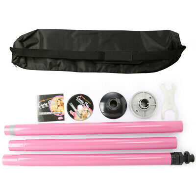 New 50mm Professional Static Pole Dance Pole - Sport / Fitness Pink Portable