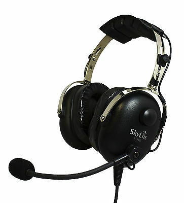 SkyLite SL-900 Pilot Aviation GA Headset with Gel and Free Bag