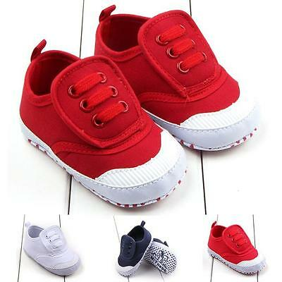 Toddler Boy Girl  Crib Shoes Newborn Infants Baby Soft Sole Prewalker Sneakers
