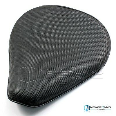 "13.4"" Motorbike Grid Leather Solo Seat For Harley Chopper Spotror 883 1200 XL"