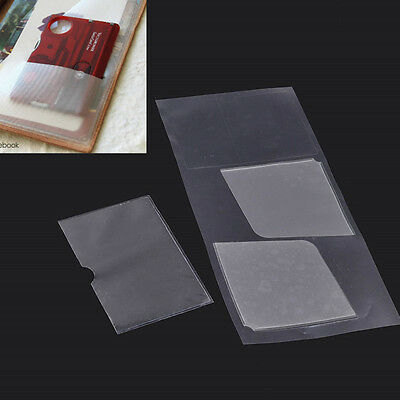 3 Pc PVC Card Pocket Stickers Refills for Leather Notebook Diary Journal Storage
