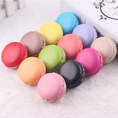 6pcs High Simulation Macaron Cookies biscuits  Decoration Artificial French DIY