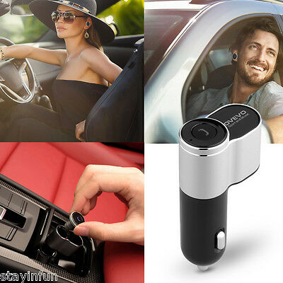 OVEVO Q10  Wireless Earbuds Mini Car Charger with two USB Ports Bluetooth Earset