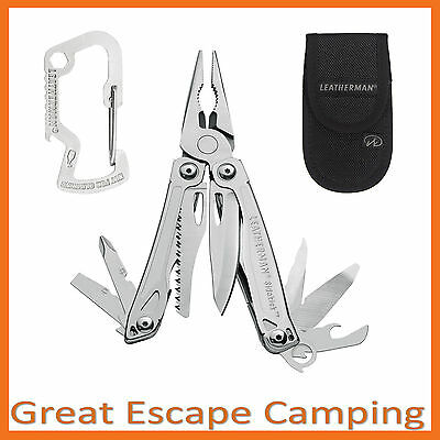 Leatherman Sidekick Stainless Multitool Knife + Sheath + Carabiner