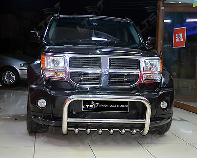 Dodge Nitro Stainless Steel Chrome Nudge A-Bar Bull Bar 2007 Onwards