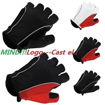 Cycling gloves Castelli Fingerless Half Finger Gloves Cycle Mitts Silicone/GLE
