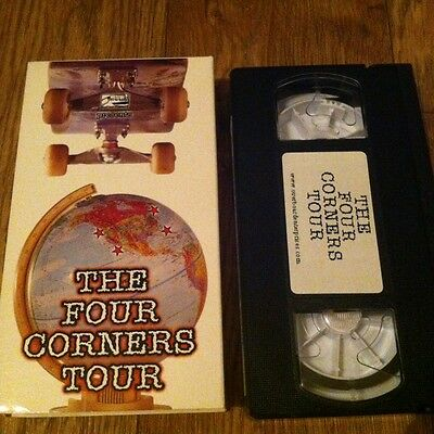 The Four Corners Tour 1999 Skateboard Video VHS Overboard (140 skaters featured)