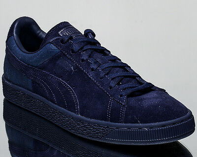 online store 22b25 d64a2 PUMA SUEDE CLASSIC Casual Emboss men lifestyle sneakers NEW peacoat  361372-02
