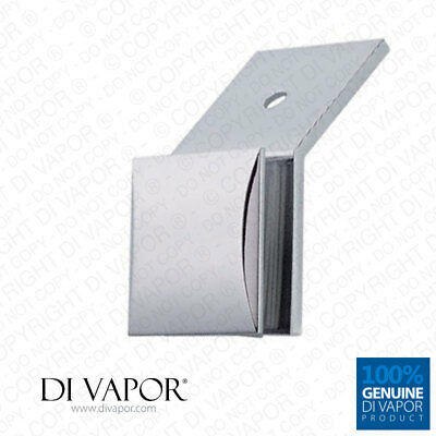 135 Degree Copper Wall to Glass Clamp Bracket for Shower Panel or Balustrade | D