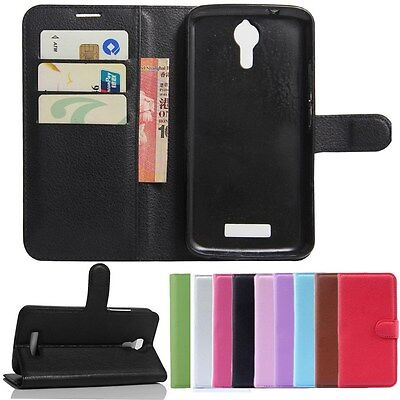 "PU Leather Stand Wallet Flip Case Cover For 5.5""Acer Liquid Zest Plus Z628 Phone"