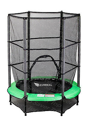 """Surreal Trampoline Safety Net Enclosure Padding 4.5FT 55"""" Kids Only 100Lbs"""