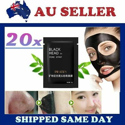 20 X PILATEN BLACKHEAD REMOVER Face Nose Skin Acne Mud Mask Pore Cleansing Strip