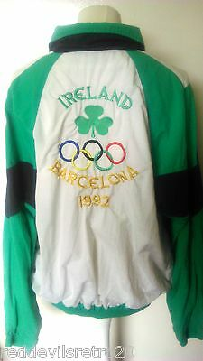 Ireland Official 1992 Barcelona Olympics Competitors Tracksuit Top (Adult Large)