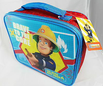 "New With Tags Fireman Sam ""Brave To The Core"" Insulated Lunch Bag School Picnic"