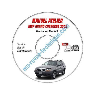 GRAND CHEROKEE ed02  Manuel Atelier CDROM JEEP Anglais Revue technique CD-ROM -