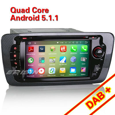 "7""HD Car DVD GPS SAT NAVI Android 5.1 for SEAT IBIZA DAB+ DVBT-T DVR WiFi 4010CU"