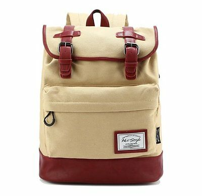 [HotStyle City Outdoor] 924s Retro Canvas Laptop Rucksack Backpack (19L)