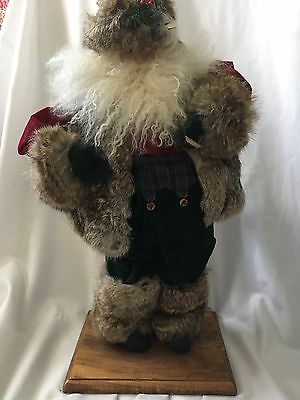 Vintage Carol Bouquet Timeless Collectibles  Woodland Santa Birch Pouch Numbered