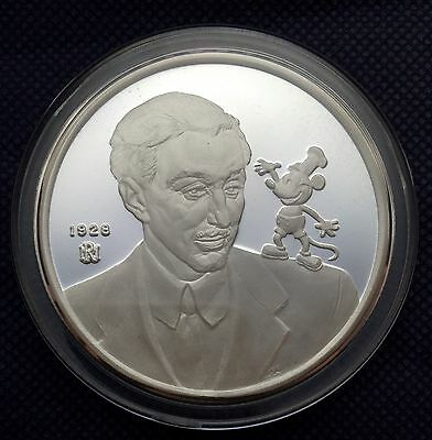 1988 Disney Mickey 60 Years With you 5 oz silver coin Low Mintage (0212 of 2500)