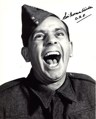 Norman Wisdom comedy hand autographed signed photo UACC DEALER