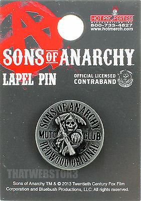 BRAND NEW Sons of Anarchy Original Reaper Metal Lapel Pin ~ Officially Licensed