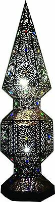 Obelisk tower TIN moroccan style with marbles, inside socket to light