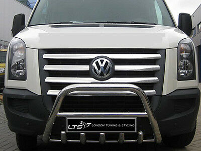 Vw Crafter Stainless Steel Chrome Nudge A-Bar, Bull Bar 2007 - 2014