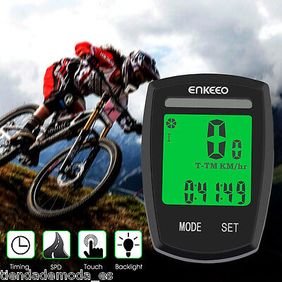 Wireless Solar Panel Bicycle Cycle Bike Computer Speedometer Odometer Speed Time