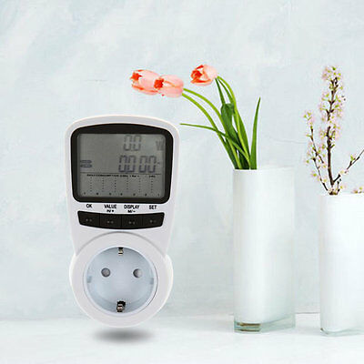 New Smart Digital Programmable Power Consumption Meter Socket Outlet Switch AHL