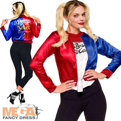 Harley Quinn Ladies Fancy Dress Suicide Squad Halloween Womens Villain Costume