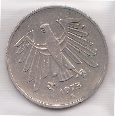 (H20-13) 1973 Germany 5Mark coin (AB)