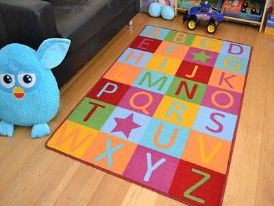 Kids Non Slip Machine Washable ABC Educational Play Mat. Available in 4 Sizes x