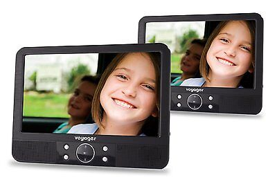 Voyager 9 inch In Car Portable DVD Player Twin Screen with Easy Fit Mount