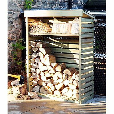 Large Wooden Log Store Firewood Outdoor Storage Heavy Duty Brand New Boxed