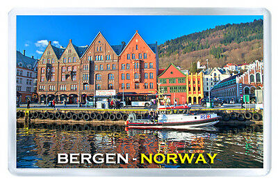 Bergen Norway Mod2 Fridge Magnet Souvenir Iman Nevera