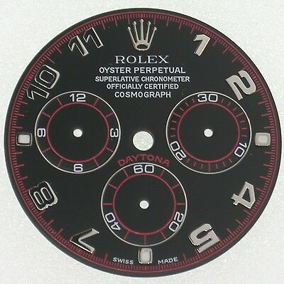 Rolex Daytona Blk/red Racing Dial For Stainless Steel Model Custom Made