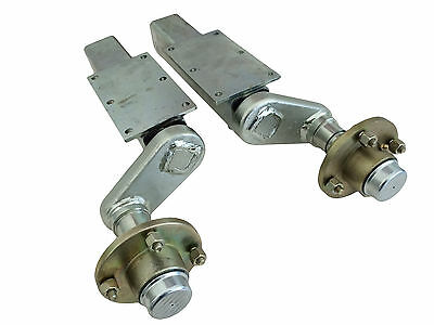 Pair of Indespension Trailer Axle Suspension Units 750kg Extended Unbraked