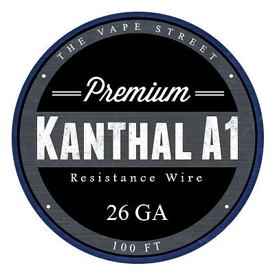 100FT - 26 GA The Vapest Kanthal A1 Round Resistance Wire AWG Gauge 100' 0.40mm
