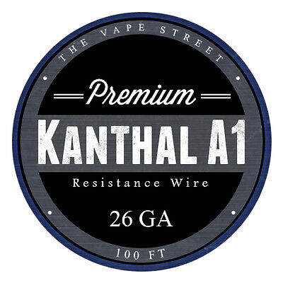 Two (2) 100FT - 26 GA The Vapest Kanthal A1 Round Resistance Wire AWG Gauge