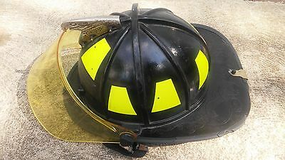Traditional Style Fire Fighter Helmet Black Morning Pride, Houston FD