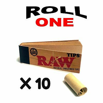 Raw Regular Roach Filter Tips 50 Sheets Per Booklet 10 Packs  Authentic Tips