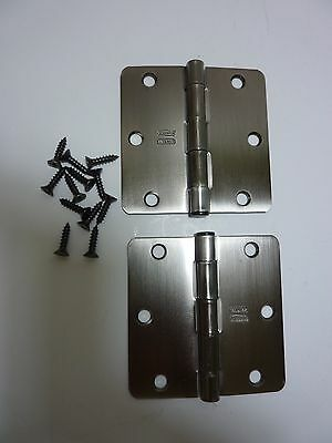 Hinges Stanley Antique Pewter Finish Set of 2 Hinges 3 1/2 X 1 1/2