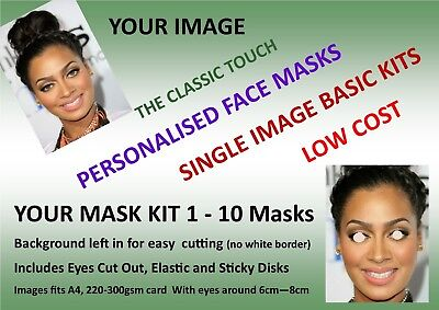 Personalised Custom Face Mask KIT - 1 to 10, Low Cost  Enhanced Hen Party Kits